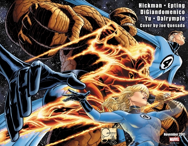 The Human Torch is Back On the Fantastic Four #600 Cover