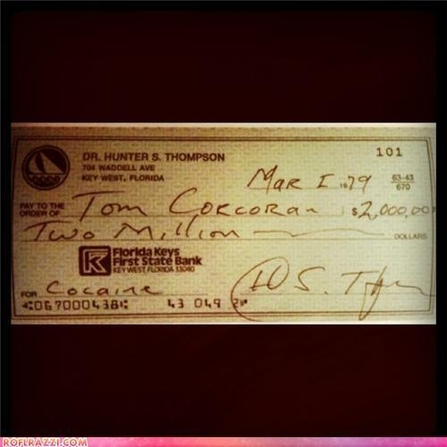 This Is How Hunter S. Thompson Bought Drugs