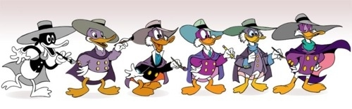 Darkwing Duck Through The Ages