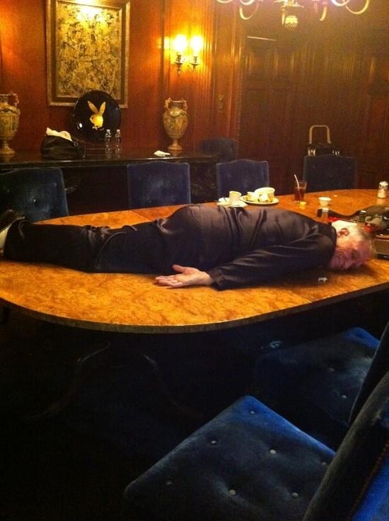 Hugh Hefner Planking