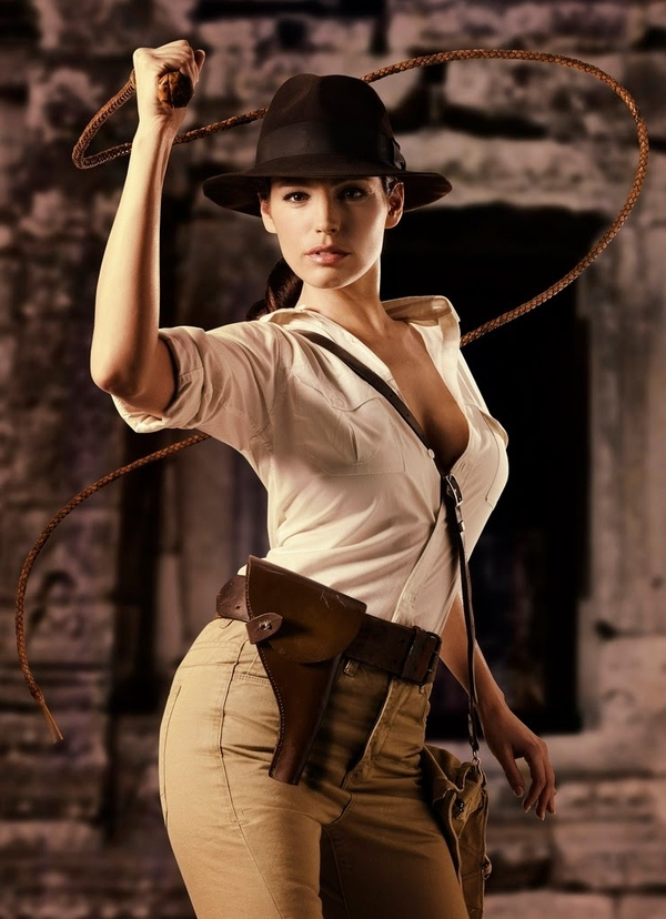Kelly Brook As Indiana Jones