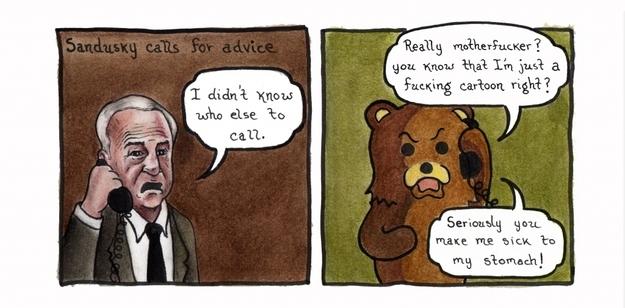 Sandusky Meets Pedobear.