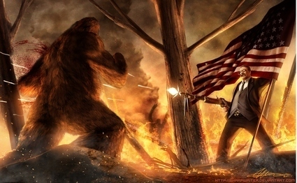 I see you and raise you Teddy Roosevelt fighting...