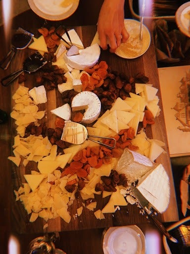 A large cheese board.