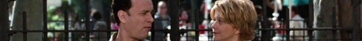 """汤姆·汉克斯和梅格·瑞恩坐在公园的长椅上的""""情书"""""""