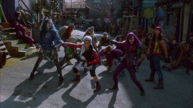 """The cast of """"Descendants"""" performs """"Rotten to the Core"""""""