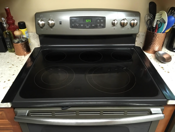 overall pic of a stove top with the strips in place and blending in with the convection stove top