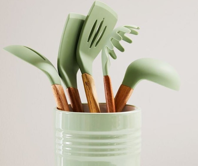 A kitchen utensil holder