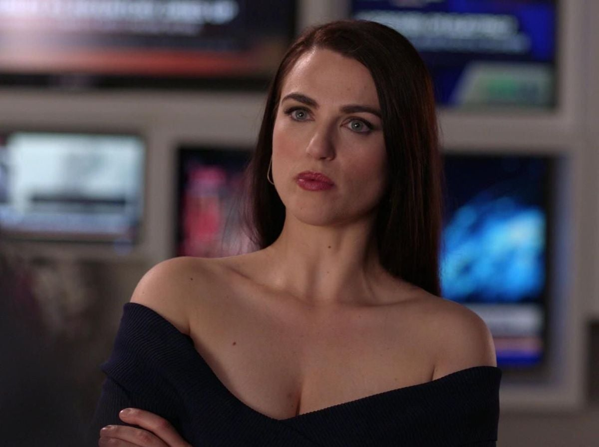 Lena frowns
