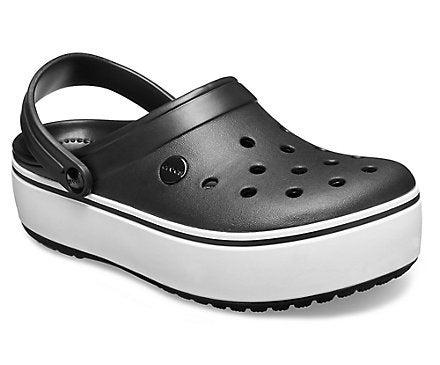 Crocs black platform sandals