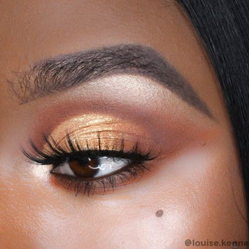 model with a look created with palette
