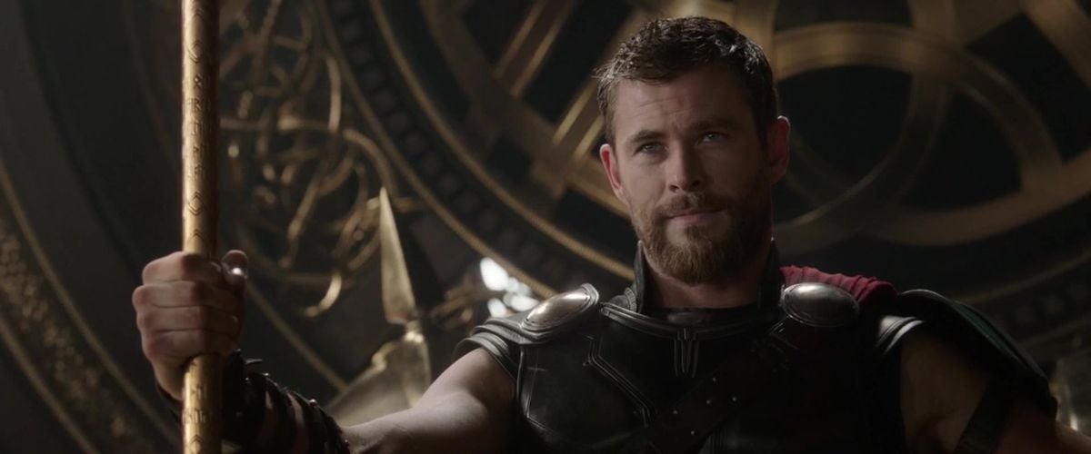 Thor sits on a throne