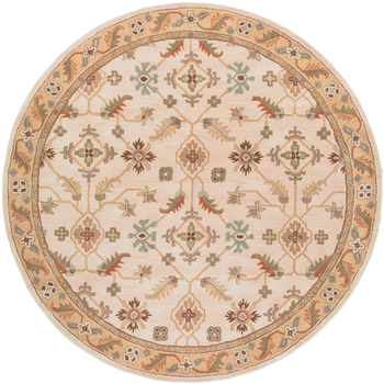 beige circular area rug