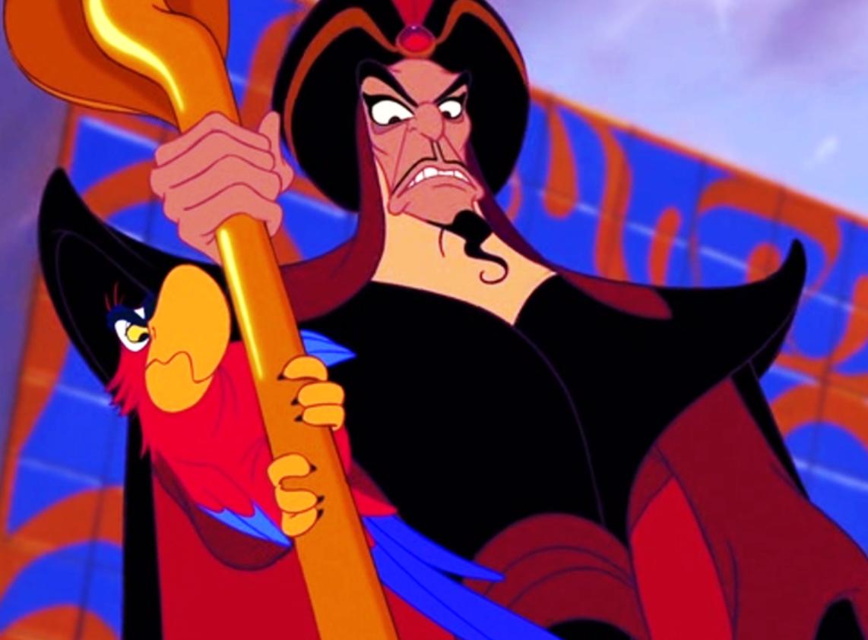 "Jonathan Freeman as Jafar in the movie ""Aladdin."""