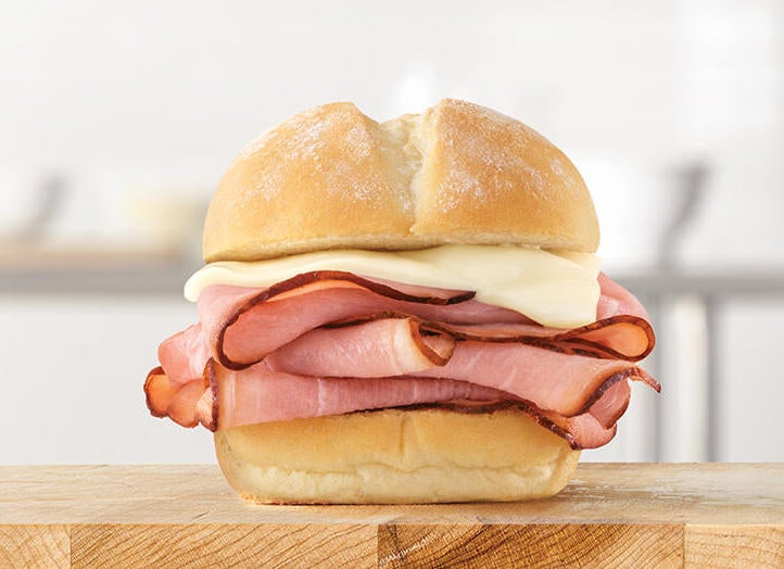 A ham and cheese slider