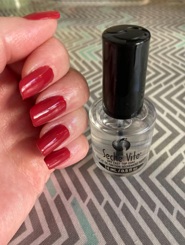 reviewer's flawless looking nails