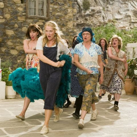 A group of middle aged women dancing