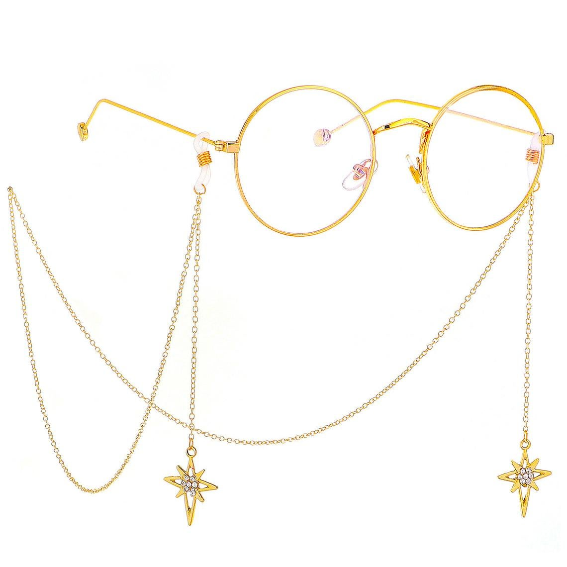 thin chain with dangling star pendants