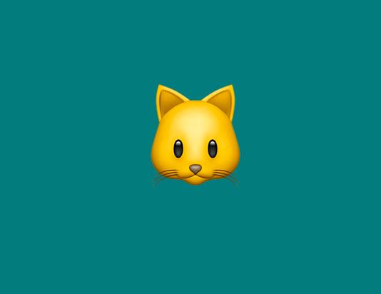 a cat emoji