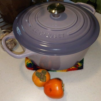 A reviewer's purple dutch oven