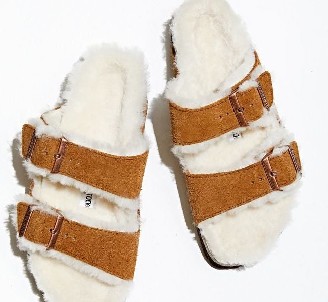 Shearling-lined Birkenstocks