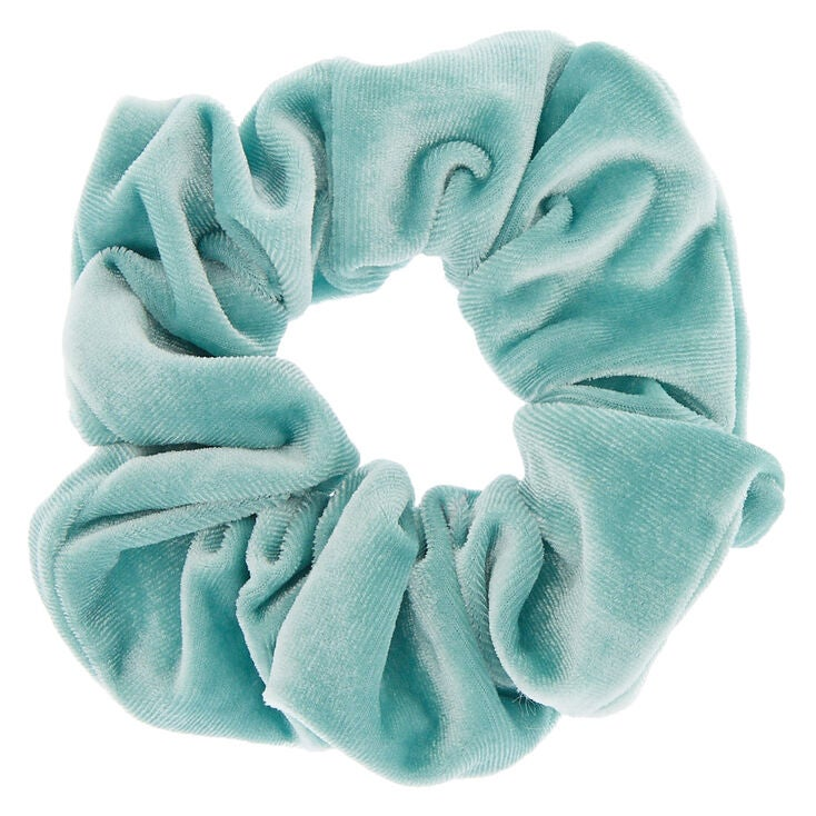 A seafoam green scrunchie