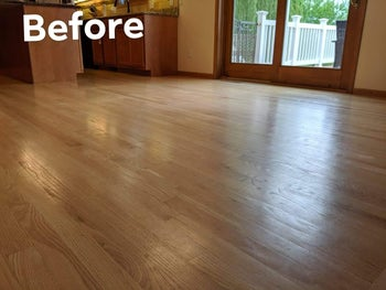 Light wood floors looking dull and worn