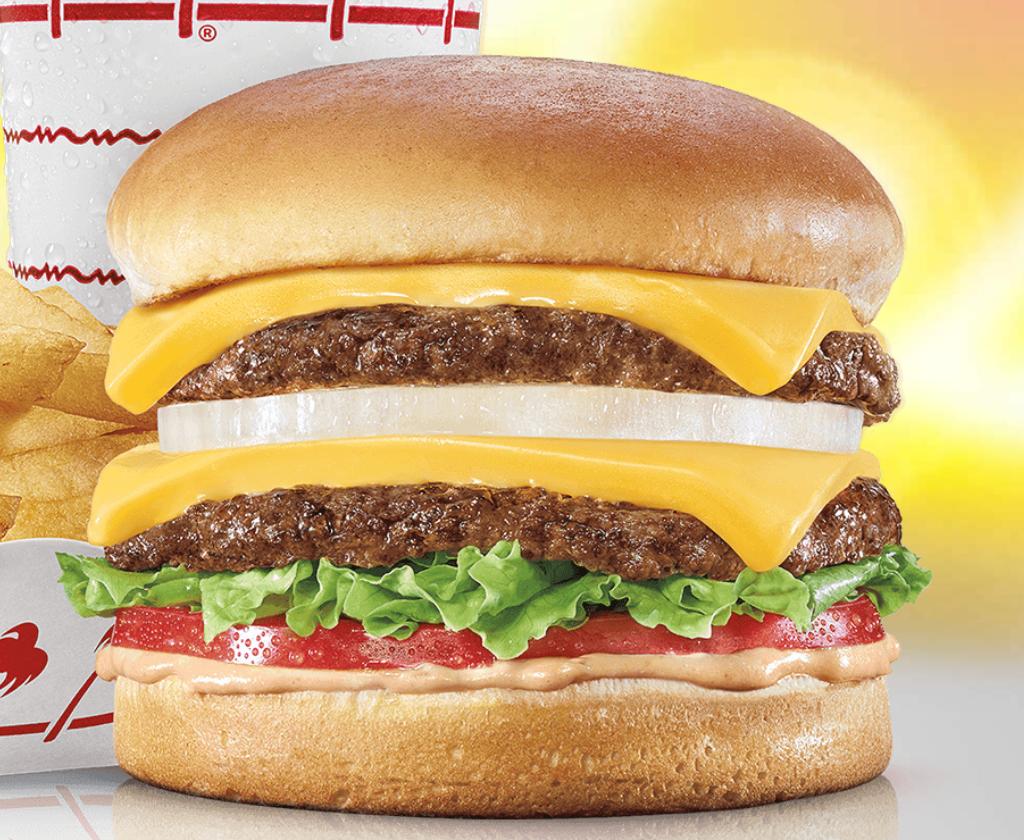 A double cheeseburger