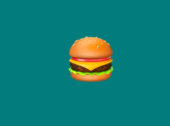 a burger emoji