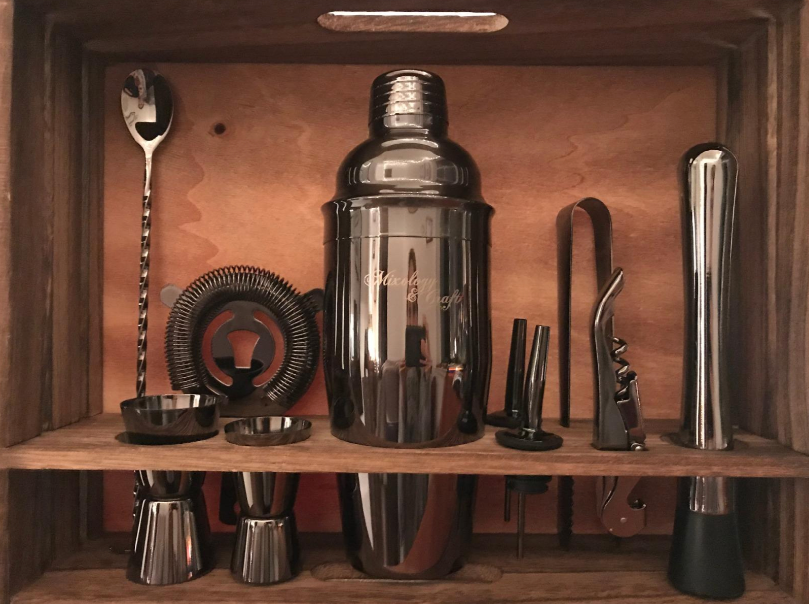 reviewer photo of the at home bar kit