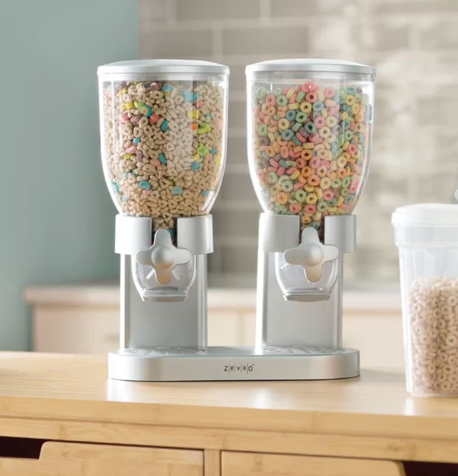 the cereal dispensers