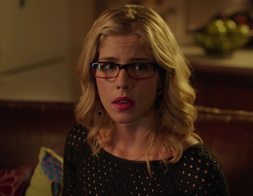 Felicity looks confused