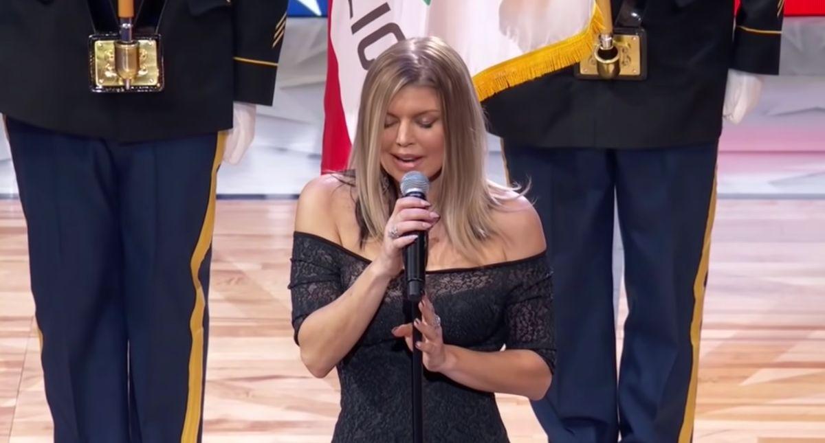 Fergie singing