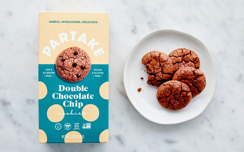 box of double chocolate chip cookies