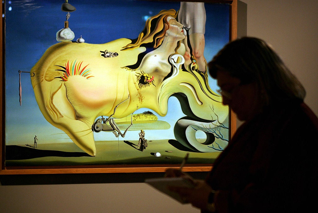 A wildly abstract Salvador Dali painting