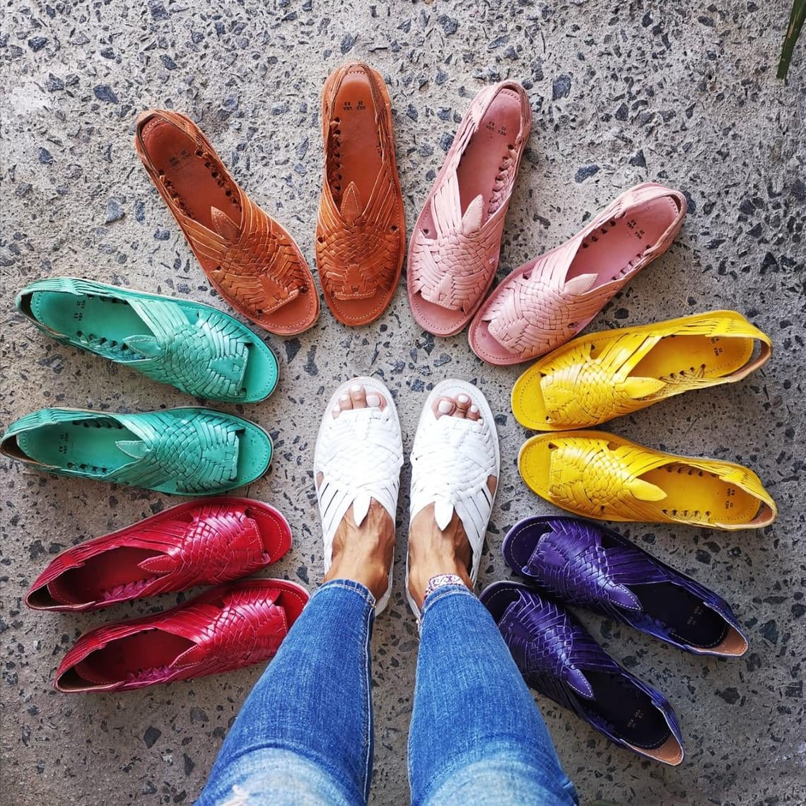 sandals in many colors