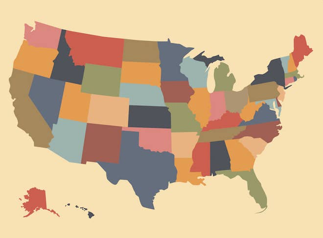 If You Get 40/50 On This US Map Test, You\'re A Geography Genius