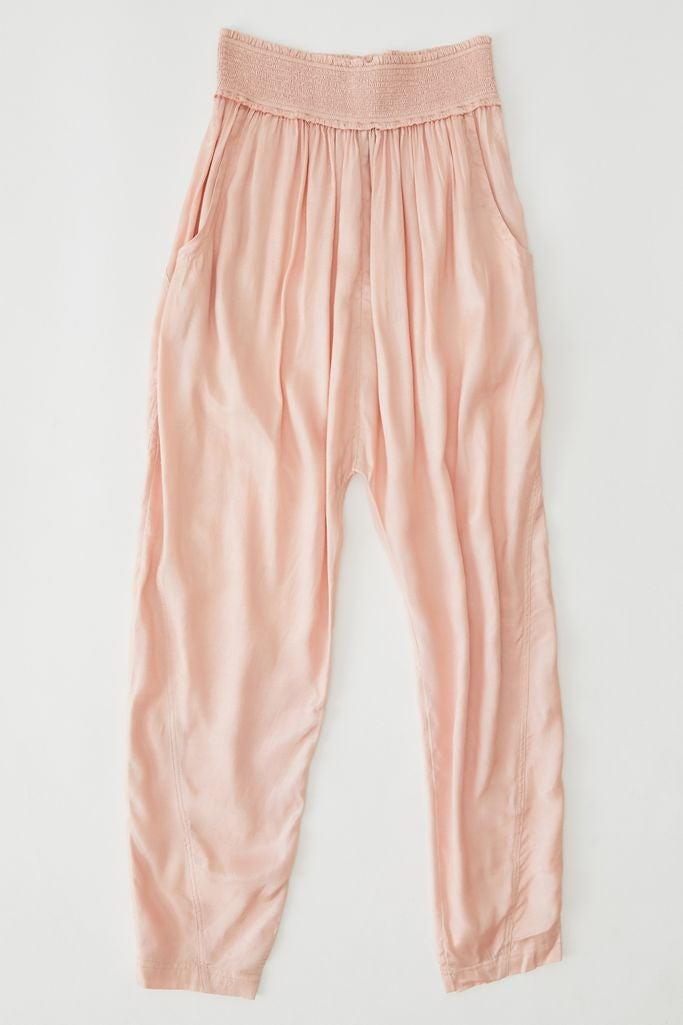 comfy light pink harem pants