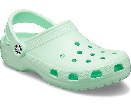 Seafoam green Crocs