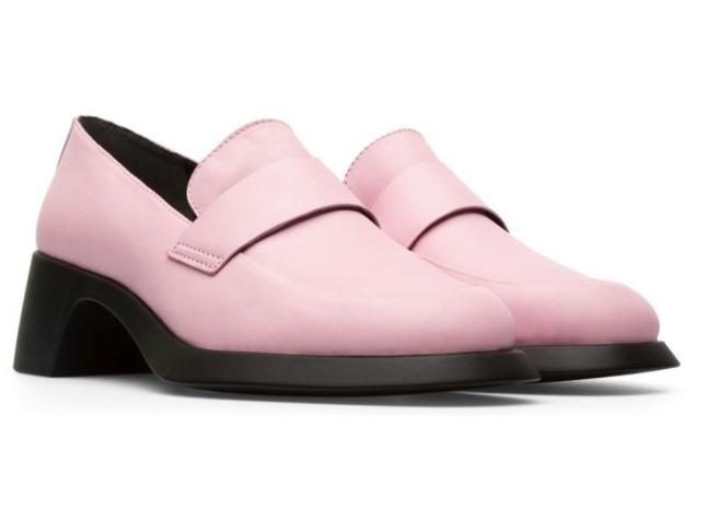 light pink slip-on mules