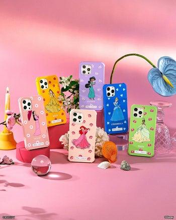 six different disney princess phone cases