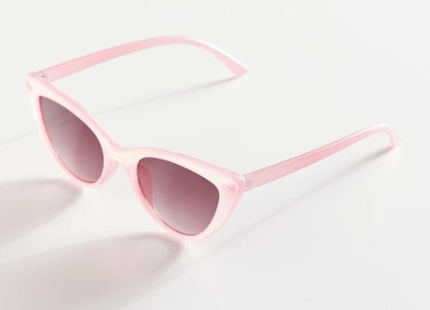 translucent pink cat eye sunglasses