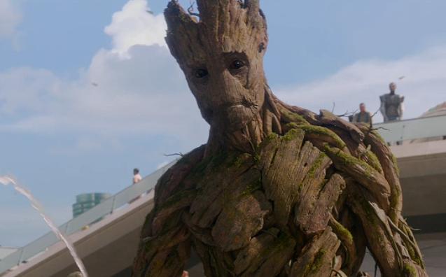"""Vin Diesel as Groot in the movie """"Guardians of the Galaxy."""""""
