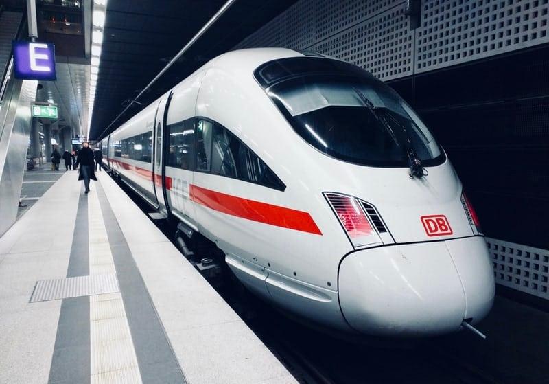 Train in Berlin Hbf (Europaplatz), Berlin, Germany