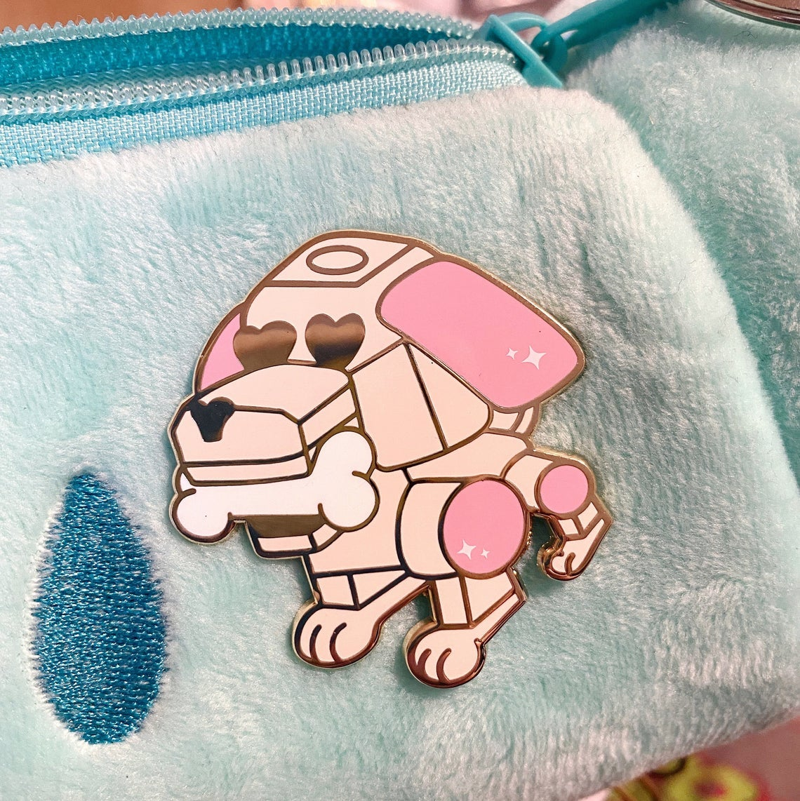 pin shaped like that robot dog from the 2000s