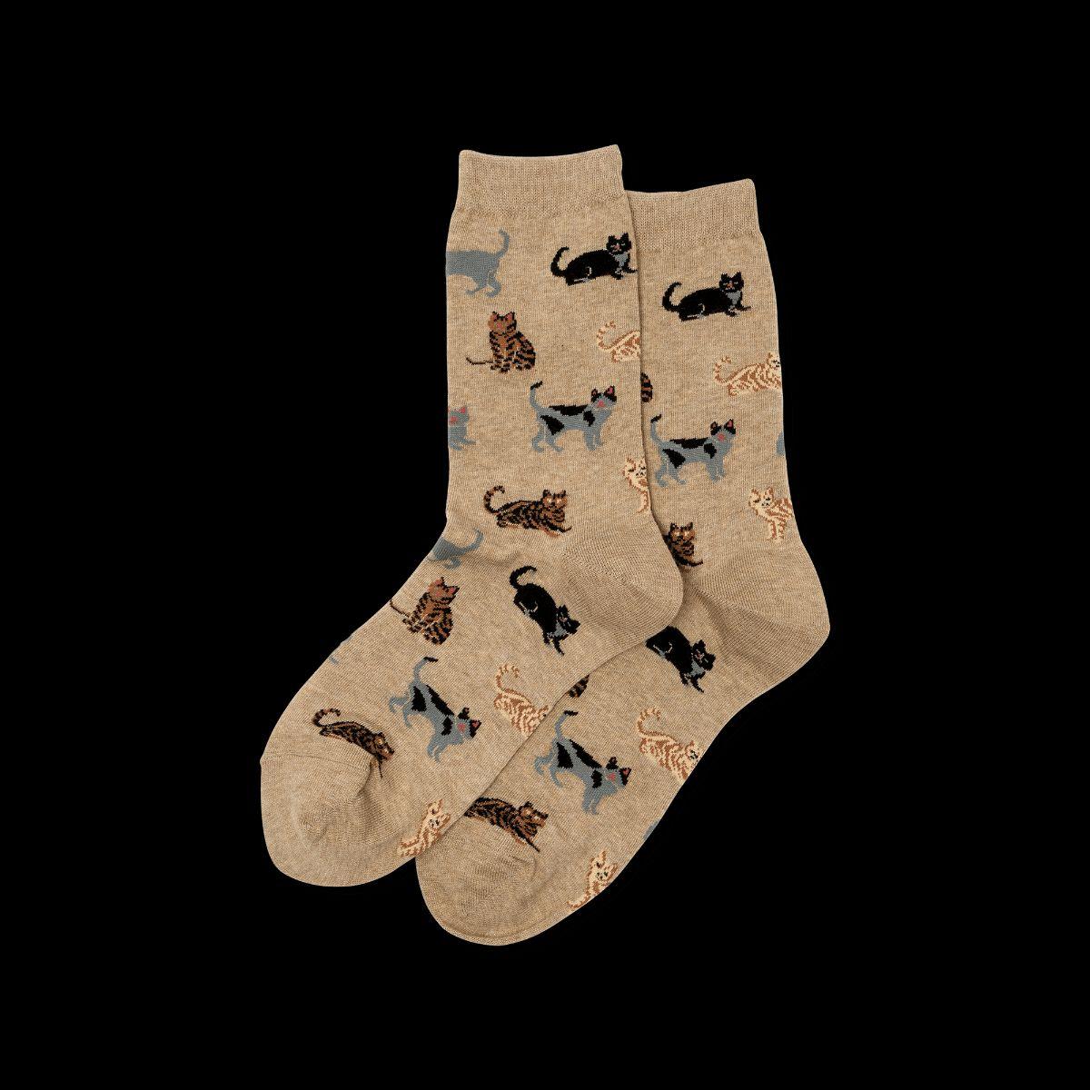 Cat-patterned socks