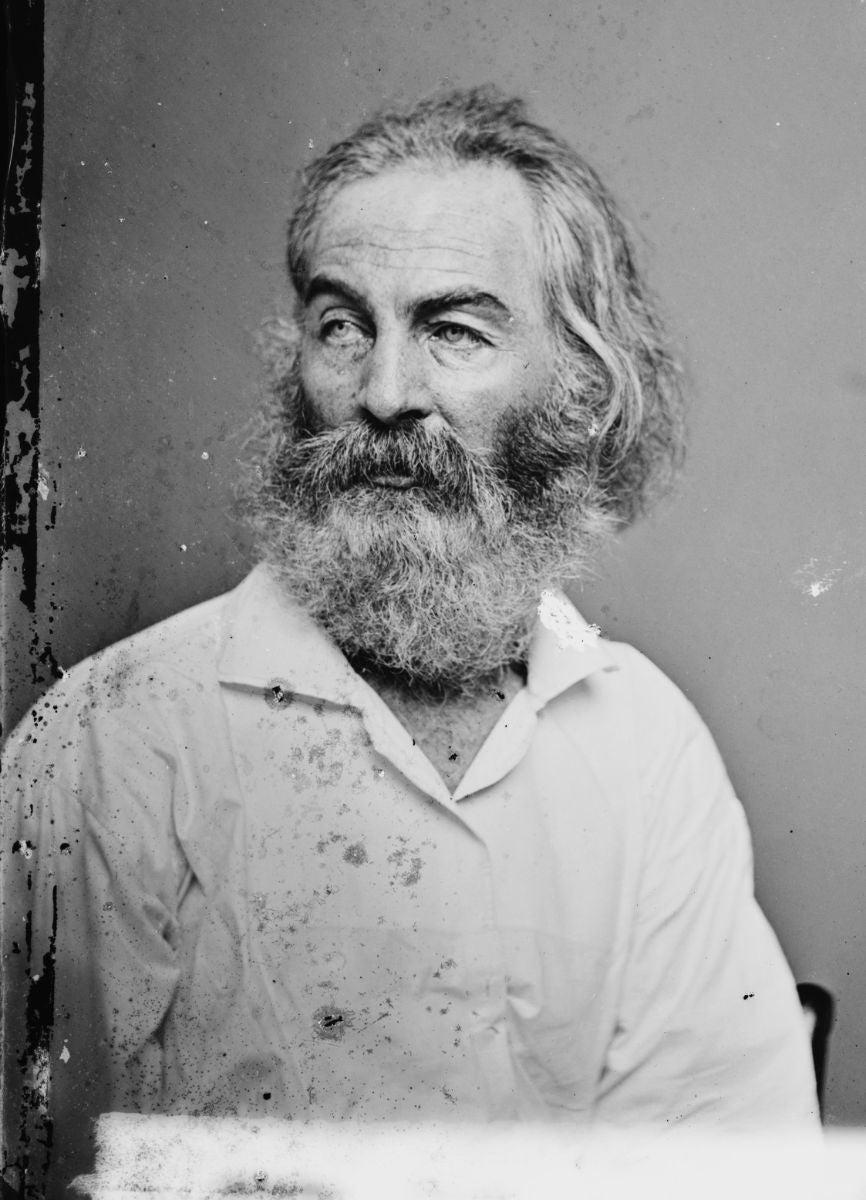 Walt Whitman sits for a portrait