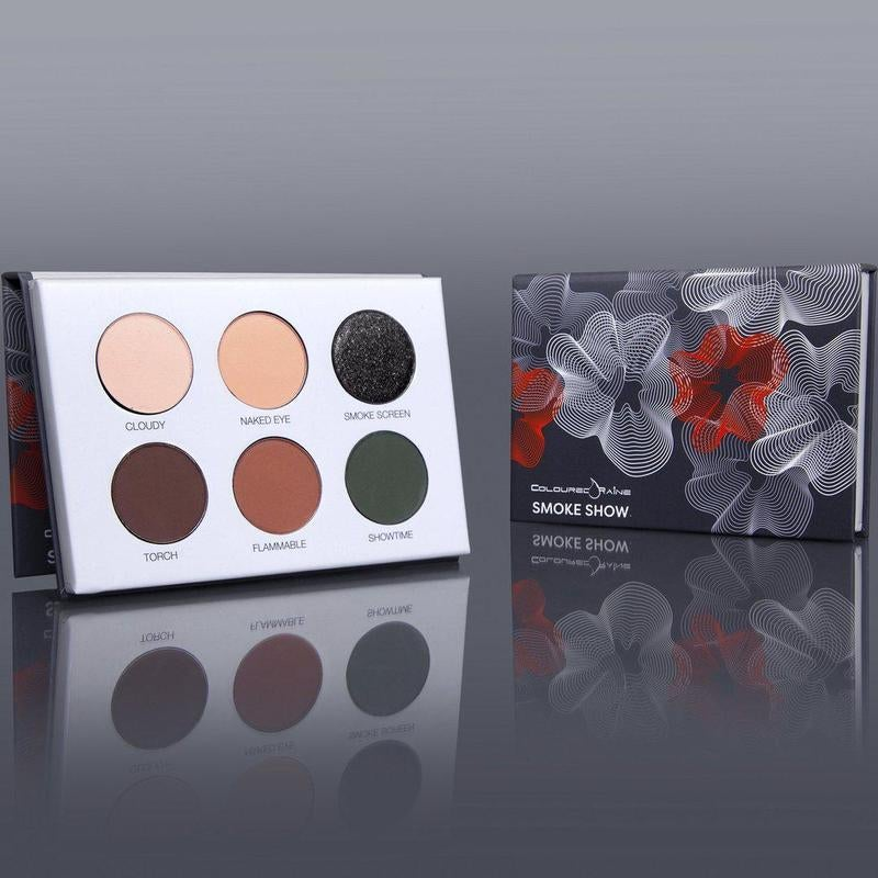 the six pan palette with warm fall colors