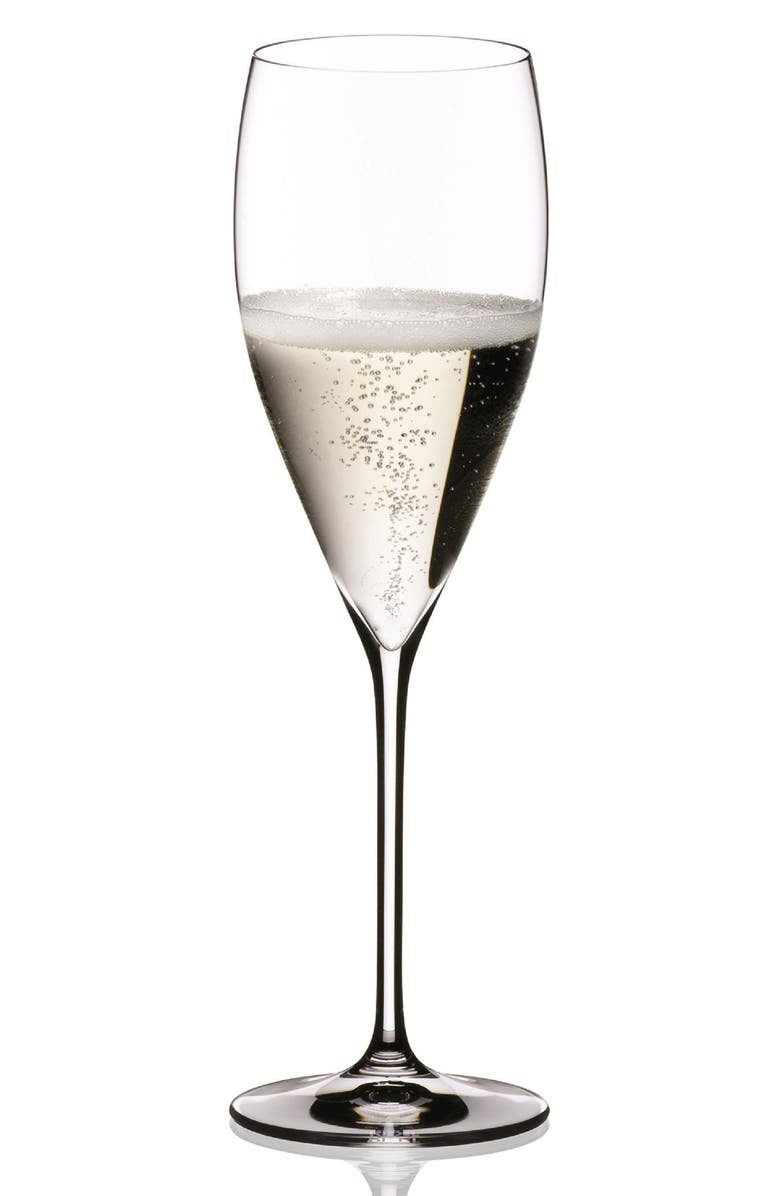 the crystal champagne glass