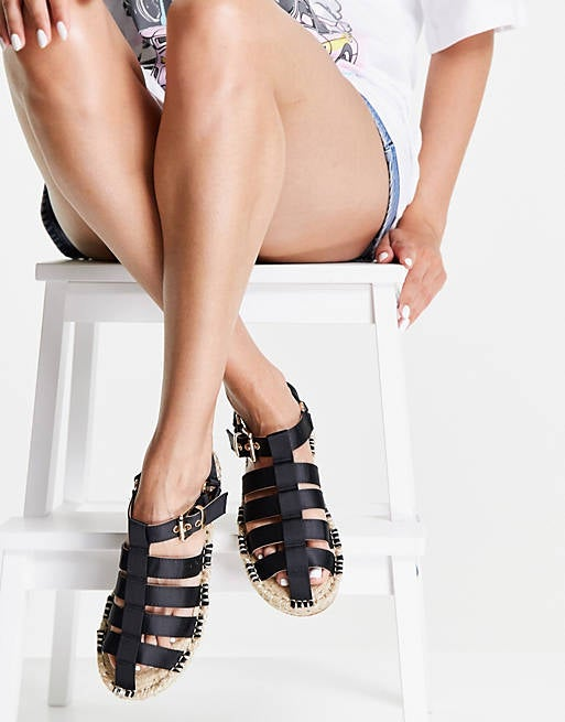 The espadrilles with black straps